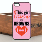 Cool Pink Love NFL Cleveland Browns Team Football TPU Case For iPhone & Samsung
