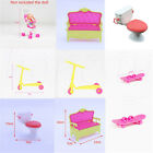 Dollhouse Model Simulation Mini Bench Scooter Toilet Trolley For Barbie House