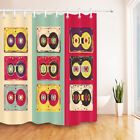 """Magnetic Tapes 71X71"""" Vinatge Fabric Shower Curtain Set Bathroom Accessories"""