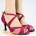 @@ Signature #S004B Magenta Latin Ballroom Salsa Tango Dance Shoes All Size /3""