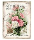 Pink Carnations~Shabby Ancient Look~FABRIC BLOCK~French Paris Chic~Quilt~Pillow~328