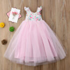 US Pageant Flower Girl Dress Kids Fancy Wedding Bridesmaid Gown Formal Dresses