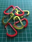 4 Mini Carabiners 4cm Wiregate Clips, Henge Hammock branded, Alloy under 3 grams