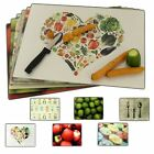 Designed Glass Chopping Cutting Boards Worktop Saver Kitchen Vegetables Fruit