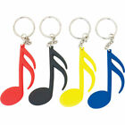 Rubber Semiquaver Music Keyring/Keychain in Assorted Colours