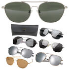 Aviator US Air Force Style Pilot Sunglasses Military Army Frames Lenses & Case