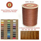 "Fil Au Chinois 50g ""Lin Cable"" WAXED LINEN thread #276 BROWN, 5 sizes avail"