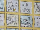 Disney Fabric Winnie the Pooh Eat Play Giggle Yellow Quilting Cotton FQ BTHY BTY