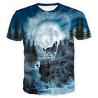 tee 3d - Summer Mens Womens 3D Wolf Print T-shirt Casual Animal Tee Shirt Graphic Tops