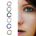 Special Clip On Fake Nose Hoop Ring Ear Septum Lip Navel Eyebrow FO