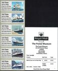POST & GO 2018 VOICES FROM THE DEEP A001 POSTAL MUSEUM OVERPRINT 1ST CLASS STRIP
