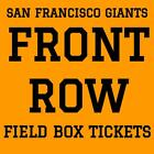 FRONT ROW TICKETS · SAN FRANCISCO GIANTS vs OAKLAND A'S · AT&T PARK · JULY 14