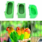 S M L Parrot Food Water Bowl Cups Bird Pigeon Cage Feeding Dish Plastic Feeder