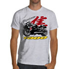HAYABUSA Racing Motorcycle T-shirt Soft Cotton White or Gray 1300 Gsxr Suzuki image