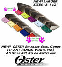 OSTER STAINLESS STEEL Clip Snap On GUIDE COMB*Fit A5,A6,Most Andis Clipper&Blade