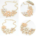 Fashion Charm Women Chain Flower Bib Choker Pendant Statement Necklace Jewelry