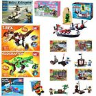 Building Brick Playset - Choose from Pirates, Helicopters, Cars, Ships and More