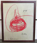 Robert Keil - Signed & Framed Original Drawing - 1975 Abstract - Listed Peter