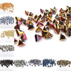 6mm 100pcs Glass Triangle crystal bead Loose beads Special bead DIY jewelry Make $2.99 USD on eBay