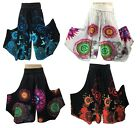 New Print Funky Pants 100% Cotton Stretch Lycra Roll Waist Hippy, Boho, Gypsy