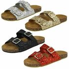 Spot On Girls Glitter Sandals