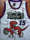 Toronto Raptors Vince Carter Throwback Basketball Jersey Sewn Stitched White NWT
