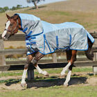 WeatherBeeta Comfitec 600D Mesh Combo Neck Fly Sheet Silver with Blue Straps NEW