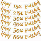 Happy Birthday Bunting Banner 18th 21st 30th 40th 50th Party Decoration UK