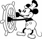 Disney Mickey Mouse Steamboat Willie Vinyl Decal - For Cars, Laptops, Etc.