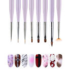 Nail UV Gel Brush Liner Fan Flat Drawing Pen Pink Blue Gradient Nail Art Tools