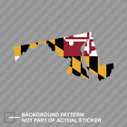 Maryland State Shaped Flag Sticker Decal Vinyl MD