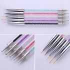 Nail Art Dual-ended Liner Drawing Brush Dotting Pen Rhinestone Handle DIY Tool