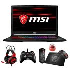 "MSI GE73 Raider RGB 17.3"" 120Hz (3ms) Core i7-8750H GTX 1070 1060 Gaming Laptop"