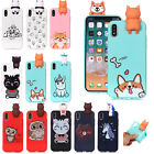 iphone 5 3d covers - 3D Cute Cartoon Silicone Soft TPU Rubber Case Cover Skin For iPhone X 8 Plus 7 6