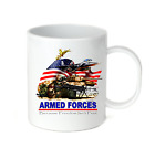 Coffee Cup Mug Travel 11 15 oz Armed Forces Because Freedom Isn't Free Patriotic