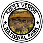 Mesa Verde National Park Round Sticker Decal Car Truck RV Window Travel Colorado