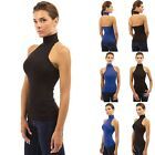 Womens Ladies Sexy Open Back Tops Sleeveless Summer Blouse Halter Tank Shirts