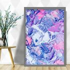 Abstract Painting Art Print Grey Pink Texture v2 Contemporary Wall Poster Decor