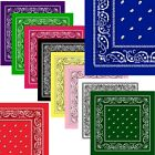 Lot Of 3 6 12 Wholesale Paisley Print Bandana 100% Cotton Head Warp Scarf