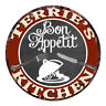 CPBK-0733 TERRIE'S KITCHEN Bon Appetit Chic Tin Sign Decor Gift Ideas