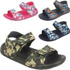 Kids Girls Boys Sports Camouflage Army Touch Strap Open Toe Children's Sandals