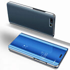 Clear View Mirror Case Flip Leather Stand Cover for Huawei Mate 10 Pro P10 Lite