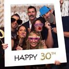 Happy 30/40/50th Birthday Party Frame Anniversary Selfie Pho