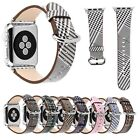 Retro Bird Pattern Genuine Leather Band For Apple Watch Series 3 2 1 Strap 38/42