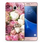 Women Cute Colorful Floral Flowers Rose Pink Soft Cover Case Fits Samsung Galaxy