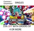 Dragon Ball Super Trading Card Game TCG CROSS WORLDS COMMON /UNCOMMON SINGLES