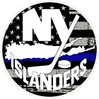New York Islanders NHL Thin Blue Line Color Die Cut Vinyl Decal cornhole car $6.49 USD on eBay