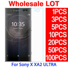 LOT 9H 0.3mm Tempered Glass Dim Screen Protector For Sony Xperia XA2 Ultra 6.0""