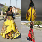 African Womens Fashion Summer Bohemian Long Dress Beach Evening Party Maxi Skirt