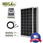 200W Mono Solar Panel Kit 40A LCD MPPT Charge Controller 12V